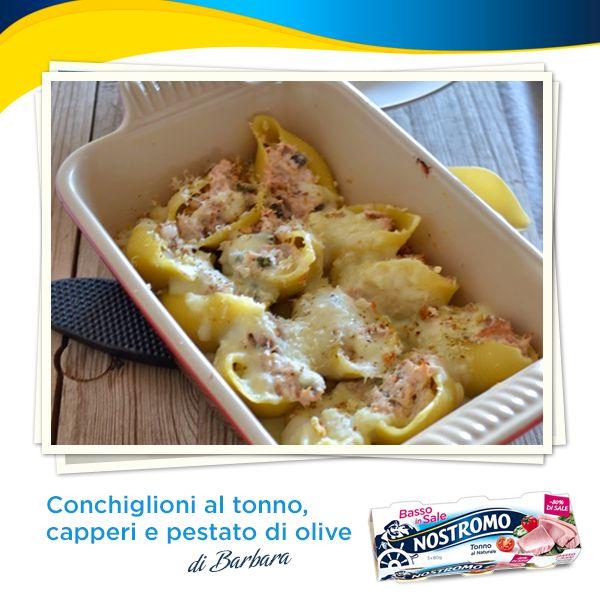 Amici del Nostromo, oggi navighiamo in acque buonissime e leggere con la nostra chef Barbara de La cucina di Barbara: scoprite insieme a noi i suoi conchiglioni al tonno, capperi e pestato di olive!  http://www.cucinadibarbara.com/2014/05/ricetta-conchiglioni-al-tonno-capperi-e.html  #ricetta #recipe #pasta #tonno #tuna