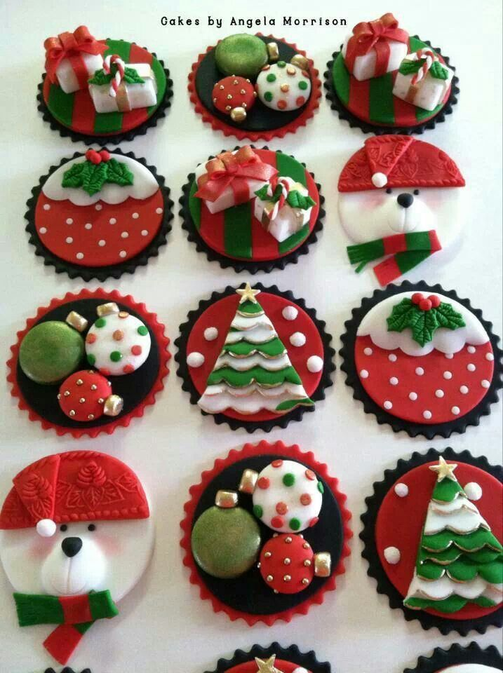 Christmas cupcake Idea! - For all your Christmas cake decorating supplies, please visit http://www.craftcompany.co.uk/occasions/christmas.html