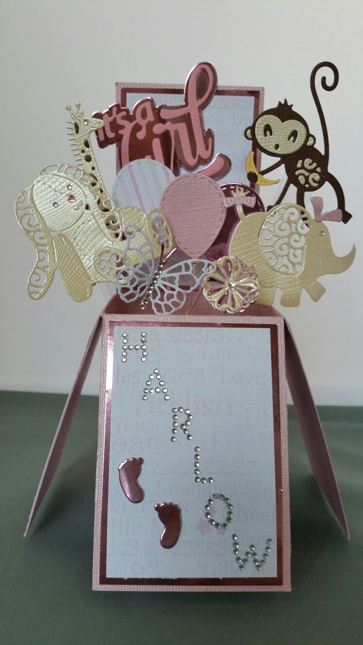 Pop up Baby Girl Card