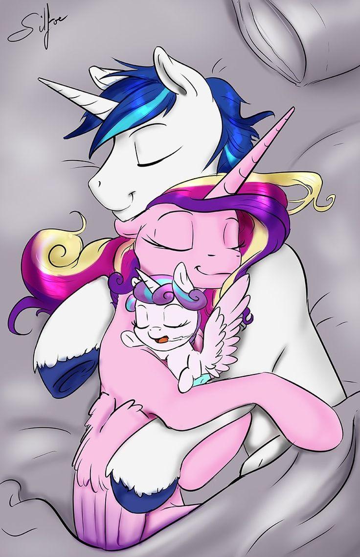 Aaaaaw... A family! :') shining armor, princess cadence and flurry heart