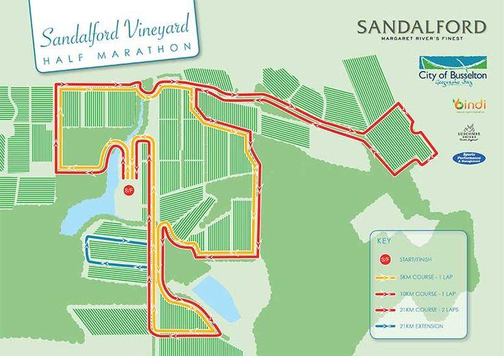 2015 Vineyard Half Marathon at Sandalford Estate