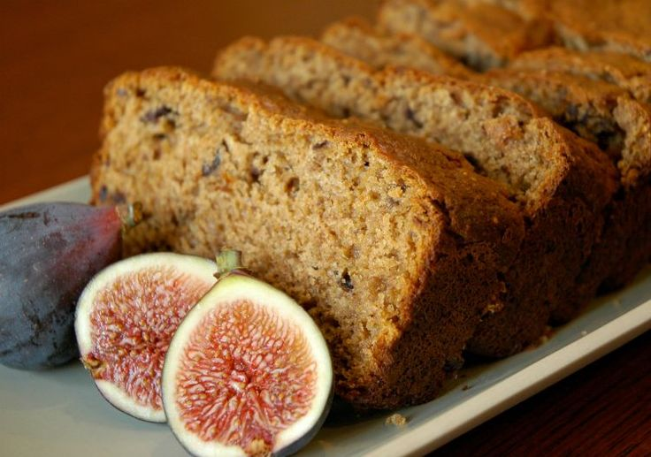 Fresh Fig Bread Recipe. Replace flours with quinoa and bean flour. Use corn starch-free baking soda/ powder.