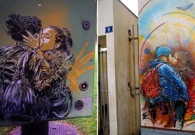 A grande sacada da arte de rua é saber aproveitar o contexto e trazer para muros, calçadas e elementos urbanos a reflexão artística sobre o que pertence à própria rua. E disso o artista de rua parisiense Christian Guémy, conhecido como C215, entende muito bem. Em uma de suas séries de mural, ele fez uma incrível homenagem ao amor e à diversidade, mostrando casais se beijando. C215 começou a experimentar com arte de rua em 2005 e hoje é um dos artistas mais expressivos da cena europeia. Para…