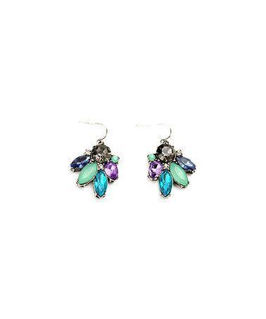 Mint & Capri Blue Crystal Seafoam Drop Earrings