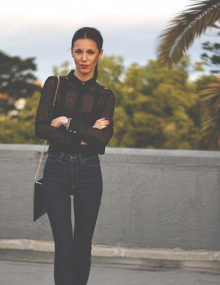 Pepa  Mack - Whistles Bag, American Apparel Jeans, Reiss Shirt, Kookai Bracelets - Basic