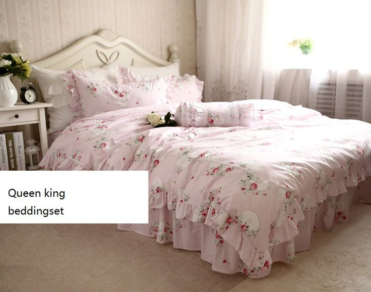 Duvet Cover Set Quality Directly From China S Suppliers Sweet Home Ruffle Lace Cotton Bedding Four Piece Rose