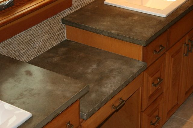 Concrete Countertop Material Cost : and glass combined with cement. This is a stout and durable countertop ...