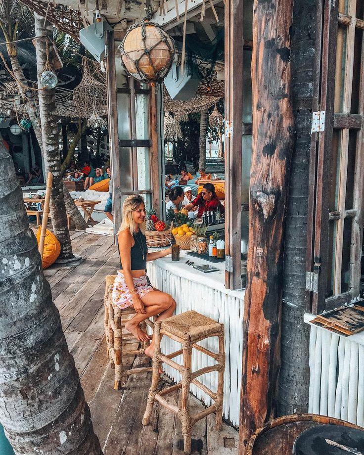 La Brisa (@labrisabali), a restaurant with beautiful seaside scenery in #Bali, #Indonesia  Photo by: IG @blonde_seashell