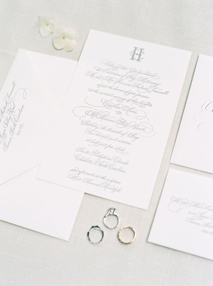 wedding invitations atlanta%0A Classic southern wedding invitation calligraphy for North Carolina wedding  by Ashlyn Writes Wedding Calligraphy Atlanta Wedding