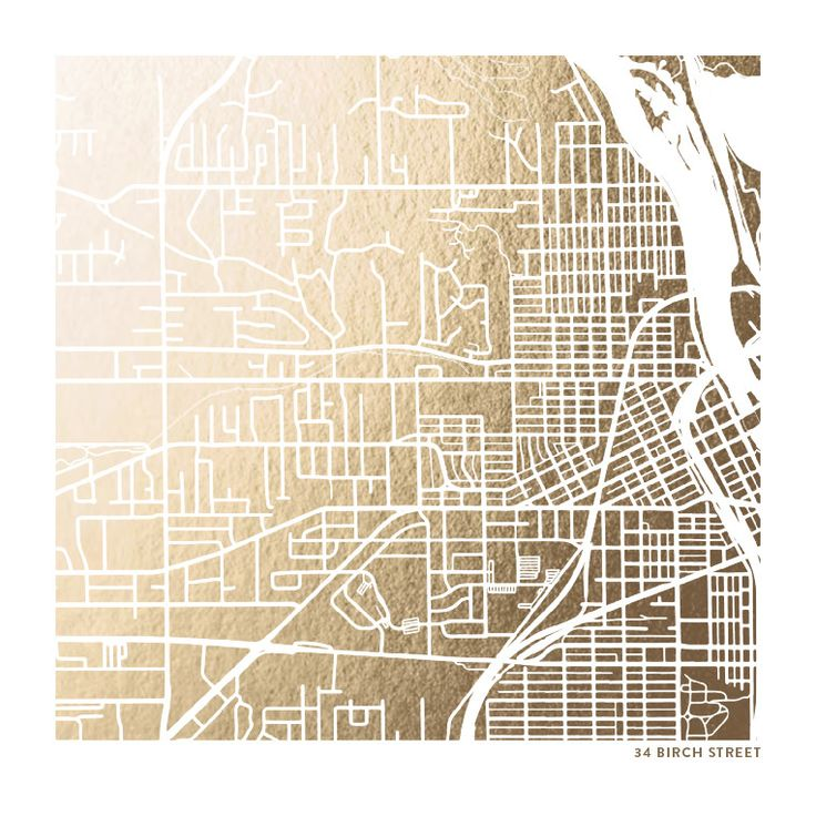 12x12 image with gold frame. Custom design for map of  Gloucestershire England