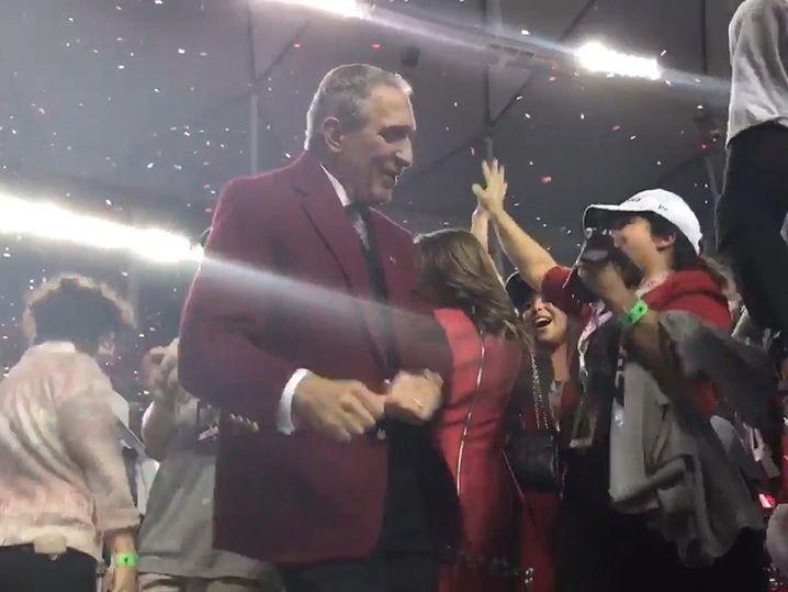 Falcons Owner Arthur Blank DIRTY VICTORY DANCIN' with Julio Jones