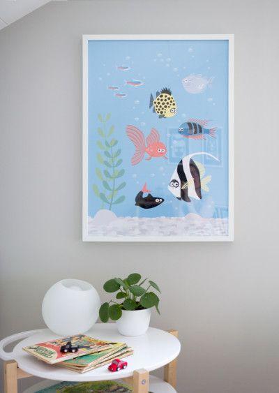 Poster Akvarium - 50x70cm