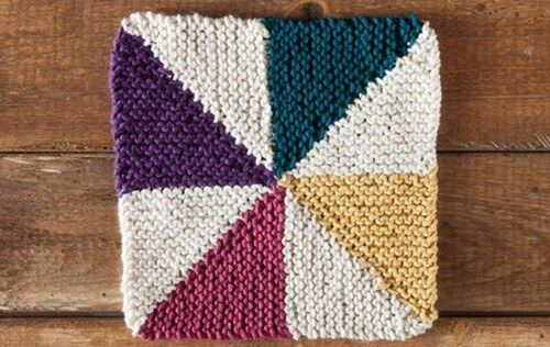 Knitted Quilt Block Patterns : Best knitting images on pinterest stitches