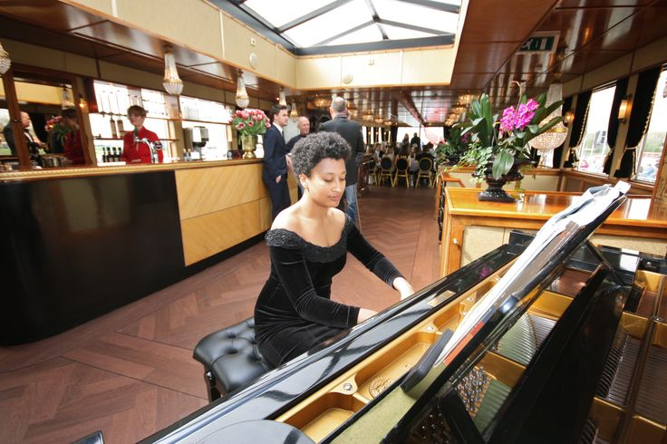 Grand piano on the second floor