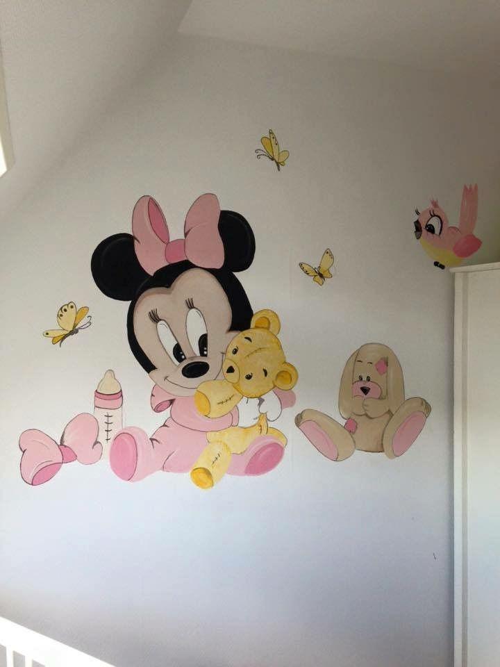 Baby minnie mouse muurschildering by joan of arts