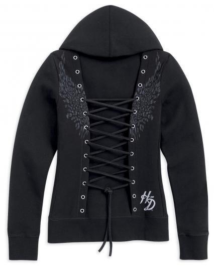 Harley Davidson corset hoodie