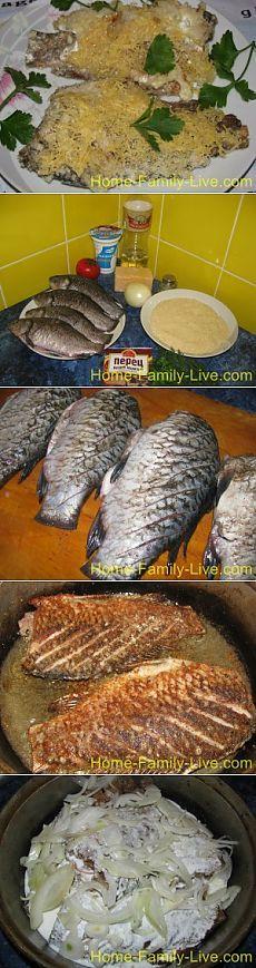 Карась в сметане - пошаговый фоторецепт жареной рыбыКулинарные рецепты