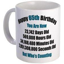 65 'Years' Old Mug for