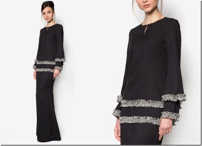Designer Baju Raya ~ Xema Su Raya 2016 Collection / black-tiered-kurung-kedah