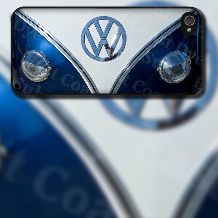 VW Blue Bus Front End Design on iPhone 4 / 4s / 5 / 5s / 5c / 6 Rubber Silicone Case by EastCoastDyeSub on Etsy https://www.etsy.com/listing/129767758/vw-blue-bus-front-end-design-on-iphone-4