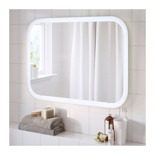 17 best images about salle de bain on pinterest coins for Miroir a coller ikea