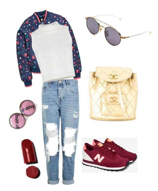 Fashion addict by lenshop-gr on Polyvore featuring Topshop, New Balance, Chanel and sunglasses Dita  http://lenshop.gr/manufacturers/12447-dita/sunglasses