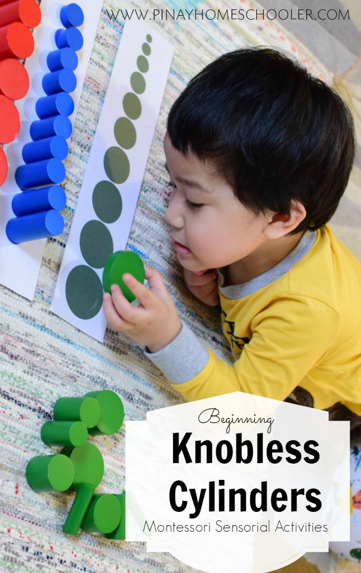 how to start using your knobless cylinders (Montessori sensorial activity)