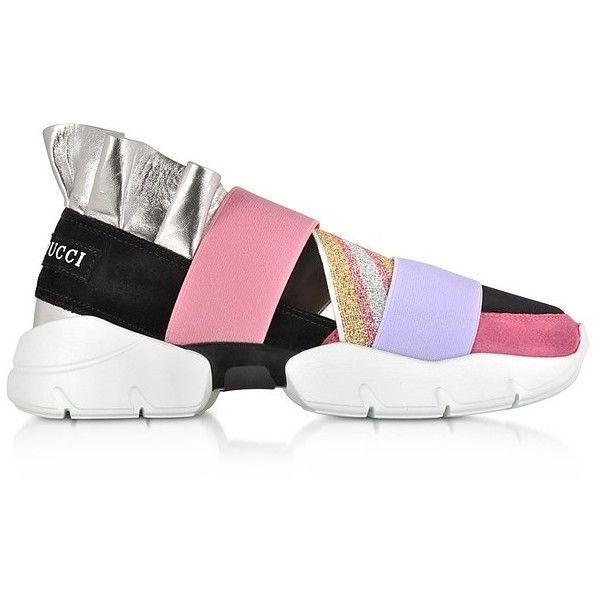 Emilio Pucci Shoes Black and Lava Suede