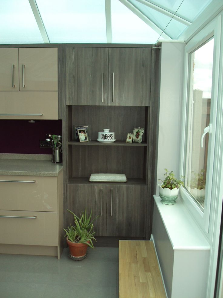 Brown Grey Avola dresser unit.