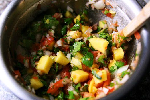 Simple and easy recipe for Mango Pico De Gallo. Great as a dip for chips or as a taco filling.