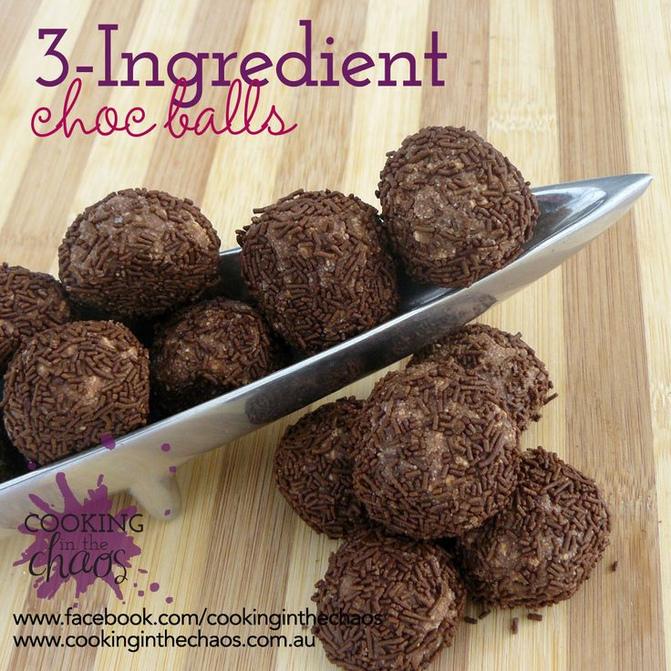 Chocolate Balls - Thermomix Recipe - Cooking in the Chaos