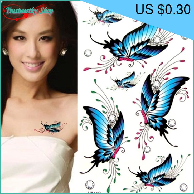 Great item for everybody.   Removable Waterproof Temporary Tattoo Blue Body Stickers Flower Butterfly Fake Tattoo - US $0.30 http://healthystoreweb.com/products/removable-waterproof-temporary-tattoo-blue-body-stickers-flower-butterfly-fake-tattoo/