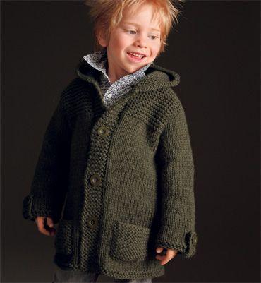 Modèle veste à capuche garçon - Modèles tricot enfant - Phildar
