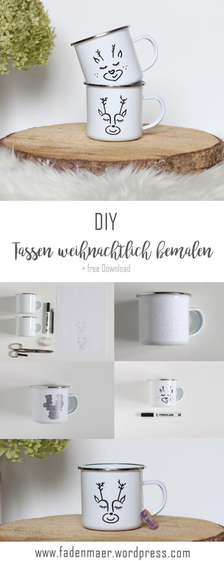 Auf meinem Blog zeige ich Ihnen, wie man Tassen so süß malt. Für die …   – Advent. DIY