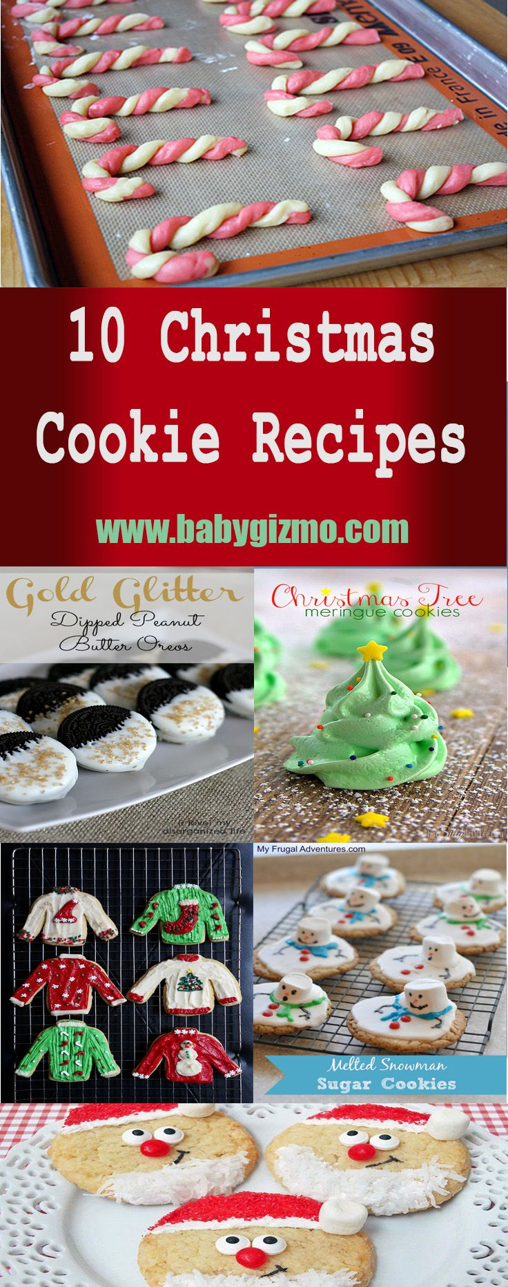 10 of the cutest Christmas cookies in town! The ugly sweater cookies are genius! #Christmas #Cookies