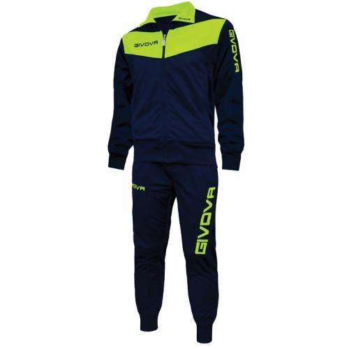 #Givova tuta visa blu / giallo fluo  ad Euro 27.50 in #Xtr018f l0419 #Abbigliamento gara completi