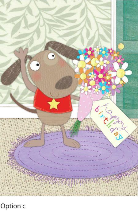 Sophie Hanton - dog & flowers