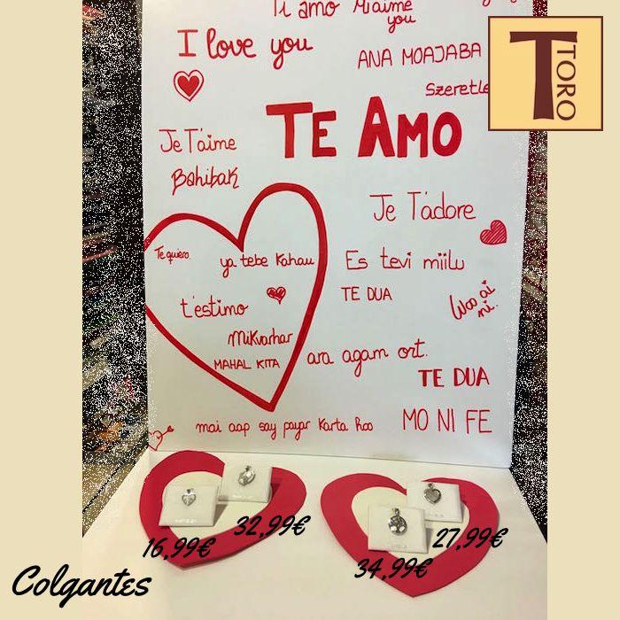 ❤️❤️¡¡Total in love!! ❤️❤️ Detalles especiales para sorprender a tu pareja el 14 de febrero, Día de los Enamorados.  #tororegalos #sanvalentin #regalos #colgantes #joyas #felizfindesemana