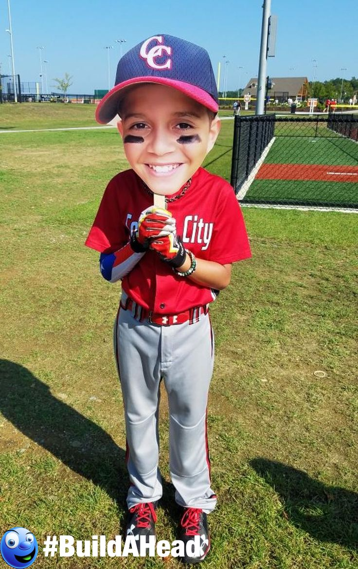 Baseball big heads! Big head cutouts are perfect for any summer sport. Show the ultimate support for your star! Order now and we ship the very next day :)