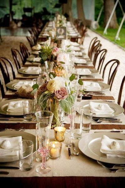 Dinner party setting #table #inspiration #fall
