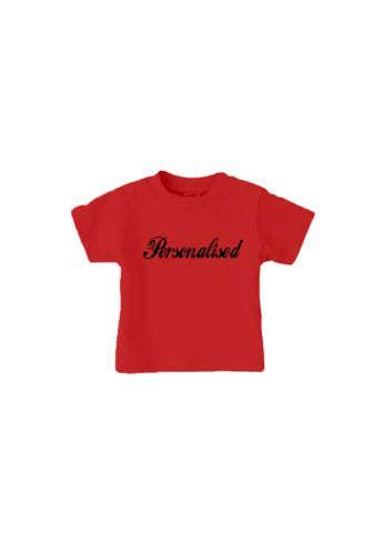 personalised name t-shirt red