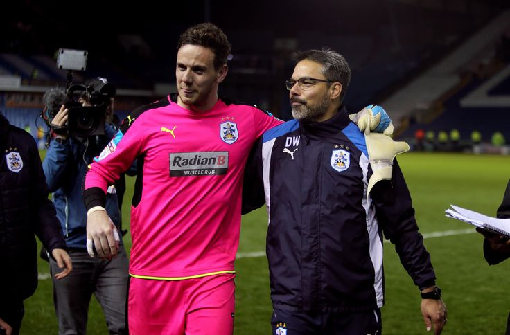 Danny Ward saves the crucial penalty to give Huddersfield promotion to Premier League