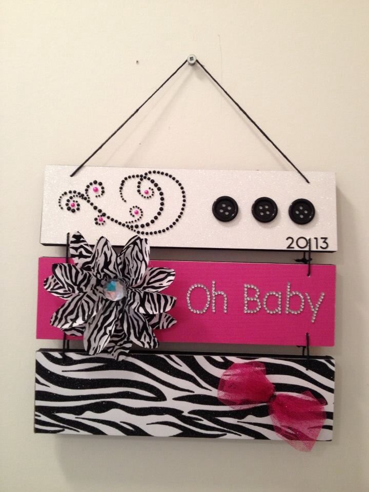 """""""Oh baby"""" wall hanging for Emily's room"""