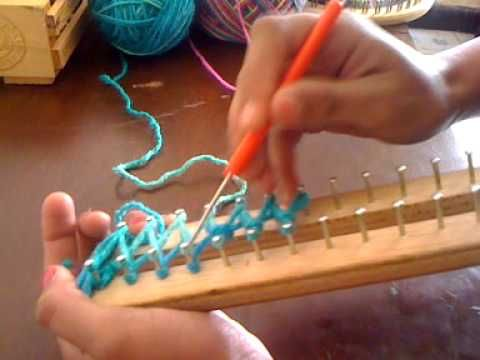 Mi video, como hacer una bufanda en telar