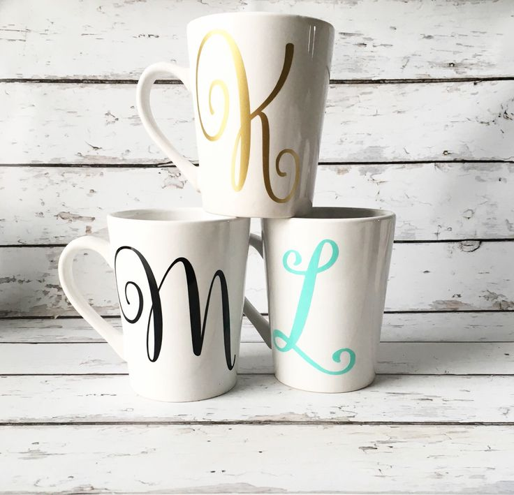 Gifts personalized with an initial are great gifts for everyone, especially teachers, gifts for her and hostess gifts! I like to say, one can never have too many mugs, especially personalized ones! Your bridesmaids will love these Shop these mugs or pin for later: https://www.etsy.com/listing/257348802/personalized-coffee-mug-initial-mug