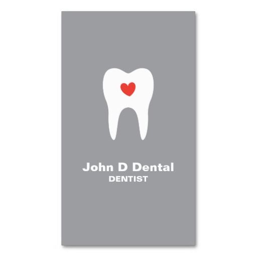 119 best dentist business card images on pinterest dentists tooth and heart gray dental dentist business card reheart Images