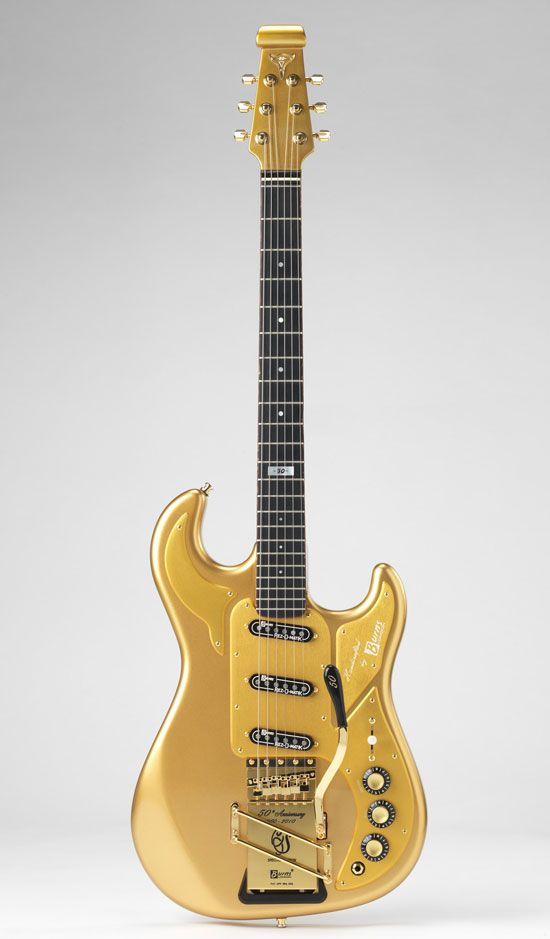 A golden dream by Burns Guitars in London. | Electric ...