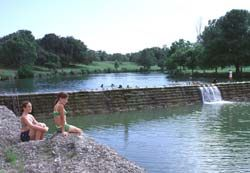 Blanco State Park in Texas - looks like such a cool place to go swiming! Camping sites are available, too
