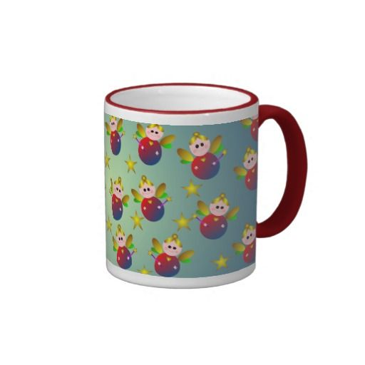 Christmas Fairy Pattern Coffee Mug