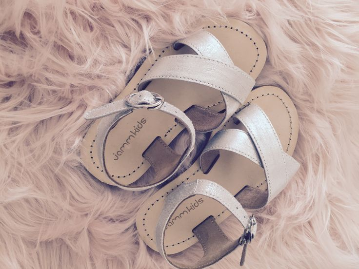 A super classic simple silver sandal for every little girl!